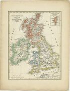 Antique Map Of The United Kingdom And Ireland By Petri 1852