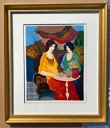 Itzchak Tarkay 1935-2012 Tea For Two Serigraph Signed 200/350 With Coa