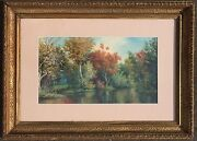William Wall Landscape Watercolor Signed Original Ny American Art 19th C Listed