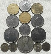 Lot Silver Coins Italy 500 Lira Sweden 1948 1950 1957 1958 1941 Collection V024