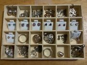 Sterling Silver Lot Of Rings, Earrings, 6 Necklaces And Charm - Over 80 Grams