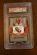 2005 Ud Hall Of Fame Johnny Bench H/w Auto Patch Rainbow 1/1 Psa 8