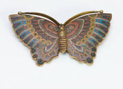 Antique Chinese Cloisonne Butterfly Brooch