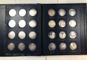 """Franklin Mint 36 Silver Coin Booklet.  """"the Legacy Of John Fitzgerald Kennedy"""""""