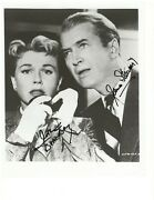 Vintage Doris Day And James Stewart Authentic Autographed 8x10 Hand Signed Photo