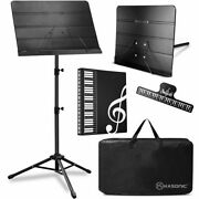 Music Stand Professional Sheet Music Stand With Clip Holder Carrying Bag