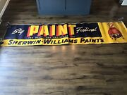 Sherwin Williams Paint 1940s Huge Advertising Paper Banner Mca Sign 28 X 115andrdquo