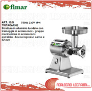 Meat Mincer Professional Aluminium Polished 12/s Mouth Andoslash 52 750w 230v 1ph Fimar