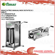 Bagging Machine Man. Horizontal/vertical Stainless Featuring Of 3 Funnels Fimar