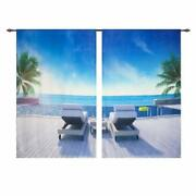 Hgmart Blackout Curtains For Bedroom Swimming Pool Chair 3d Print Window Drape
