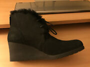 Jeovana Black Leather Waterproof Ankle Uggs Size 8 - New