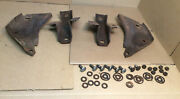 1968 And Other Ford Fairlane 500 Rear Bumper L And R Inner And Outer Brackets Bolts