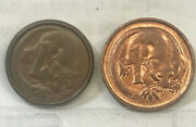 Australia,1966 One 1 Cent Error Wrong Planchet Maybe Mixed With Other Coins