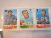 15 1968 Topps Football Cards - Assorted Players - Excellent Condition - Ofc-c