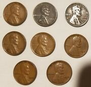 2nd Roll Of 50 Different 1941-1958 Wheat Cents Including S Mint And Steel Cents