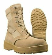 Wellco Men's Hot Weather Desert Tan Army Combat Boots 11 Xw New Free Shipping