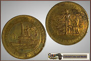 United States Of America Panama Canal Completion Medallion In Brass 1915