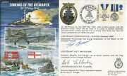 Ww2 Hms Hood Fdc Signed By Two Of The Only Three Survivors Rare Uacc Dealer