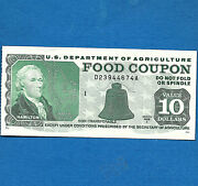 Food Stamp Coupon 1989 A Month Code I Usda Currency Money Script Welfare 10