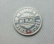 Vintage My Place This Is My Lucky Piece Coin Token