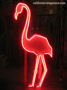 Vintage 1980and039s Tall Neon Pink Flamingo Neon Sign Antique