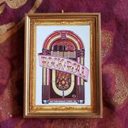 Fifties Jukebox Rock Androll Christmas Ornament/magnet/dhm/wall Art/tabletop Decor