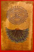 Hand Painted Old Stamp Paper Indian Dress Miniature Paint India Maharaja Art