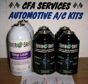 6 Cans/ R12 Systems Compatible A/c Refrigerant 12a+stop Leak Recharge 1995-older