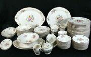 Syracuse Floral Federal Portland 97 Pc Dinnerware Set For 12 With Service Pieces
