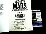 Buzz Aldrin And Coauthor Apollo 11 Astronaut Signed Auto Mission To Mars Book Jsa