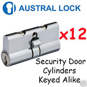 Security Door Lock Cylinder For Austral X12 Bulklot - Chrome - High Quality