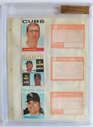 1964 Topps Baseball File Copy Binder Page 3 Players 6 Cards Bgs 1 Of 1 1