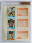 1964 Topps Baseball File Copy Binder Page 3 Players 6 Cards Bgs 1 Of 1 2