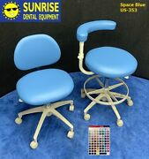 Adec 1601 Doctor And 1622 Assistant Dental Stool Set - Color Of Choice Vinyl Uph.