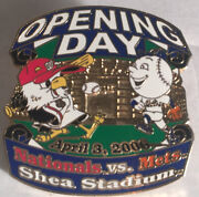 Opening Day Shea Stadium April 3 2006 Nationals Vs. Mets Pin Officescl-1