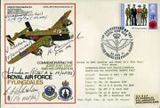 Ww2 Raf 158 Squadron Halifax Bomber Friday The 13th Crew Signed Cover