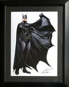 Alex Ross Rare Batman Heroes Litho Signed And Framed 62/100 Coa 2017 Exclusive