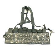 Used Us Army Tactical Assault Panel Tap Military Molle Acu Chest Rig