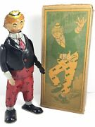 Vintage 1920s Strauss Boob Mcnutt Wind Up With Original Box / Excellent And Works