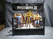 Mattel Wwe Raw Wrestling Ring Spring Loaded 2010 With 18 Figures.730