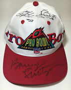 Nfl Pro Bowl Hawaii 1995 Snapback Hat With 11 Signatures