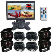 4ch 7 Split Monitor Truck Tractor Reverse Security System 4x Car Backup Camera