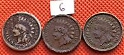 1859 1860 And 1863 Indian Head Pennies Cents See Pictures For Coins 6