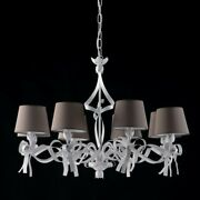 Suspended Lights Wrought Iron Modern White Turtle Dove Shabby And Chic