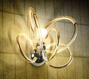 Wall Light Classic Chrome With Crystal Clear Gold