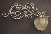 Hanger Wall Classic Wrought Iron White Gold