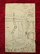 Vintage Unpublished F Bickmore Drawing A Night At The Theatre Fc70-85
