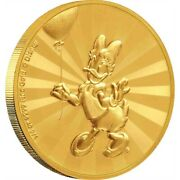 Mickey And Friends Daisy Duck Carnival 1/4 Oz Gold Coin 25 Niue 25 Dollars 2020