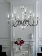 Suspended Lights Modern Crystal Clear And Glass Smoke