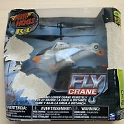 Air Hogs R/c Fly Crane Helicopter Artic Camo Radio Control W/ 3 Baskets New